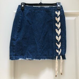 Missguided Jean Skirt